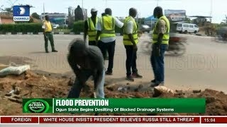 Ogun Begins De-silting Of Blocked Drainage Systems |News Across Nigeria|