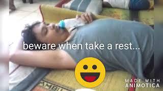 Dijahilin... saat tidur dikerjain dengan dodot bayi