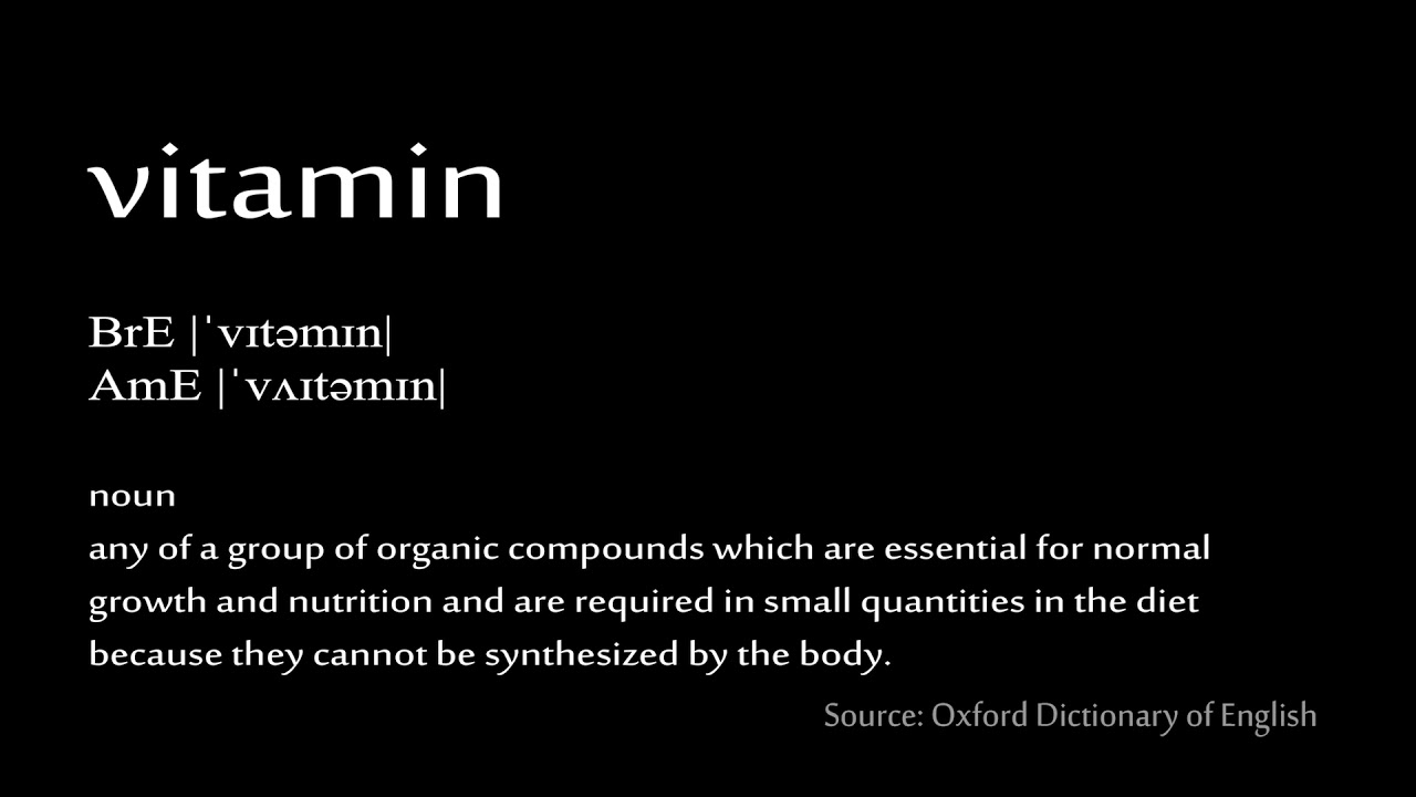 how to pronounce vitamin