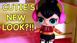 LOL SURPRISE DOLLS Cutie Colors Her Hair Black And Changes Her Attitude!