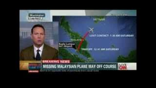 CNN BREAKING NEWS::MH370 Fly Way Off Course#2 [12Mar2014]