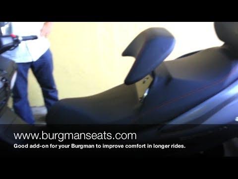 Suzuki Burgman 400 - Burgmanseats.com - Backrest Riser Review