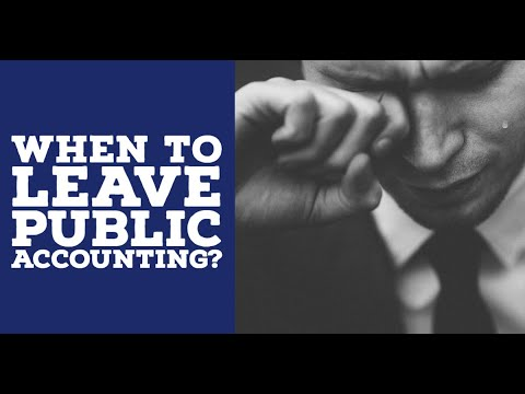 When Should You Leave Public Accounting? - YouTube