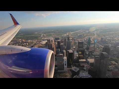 Southwest Airlines Landing At Dallas Love Field