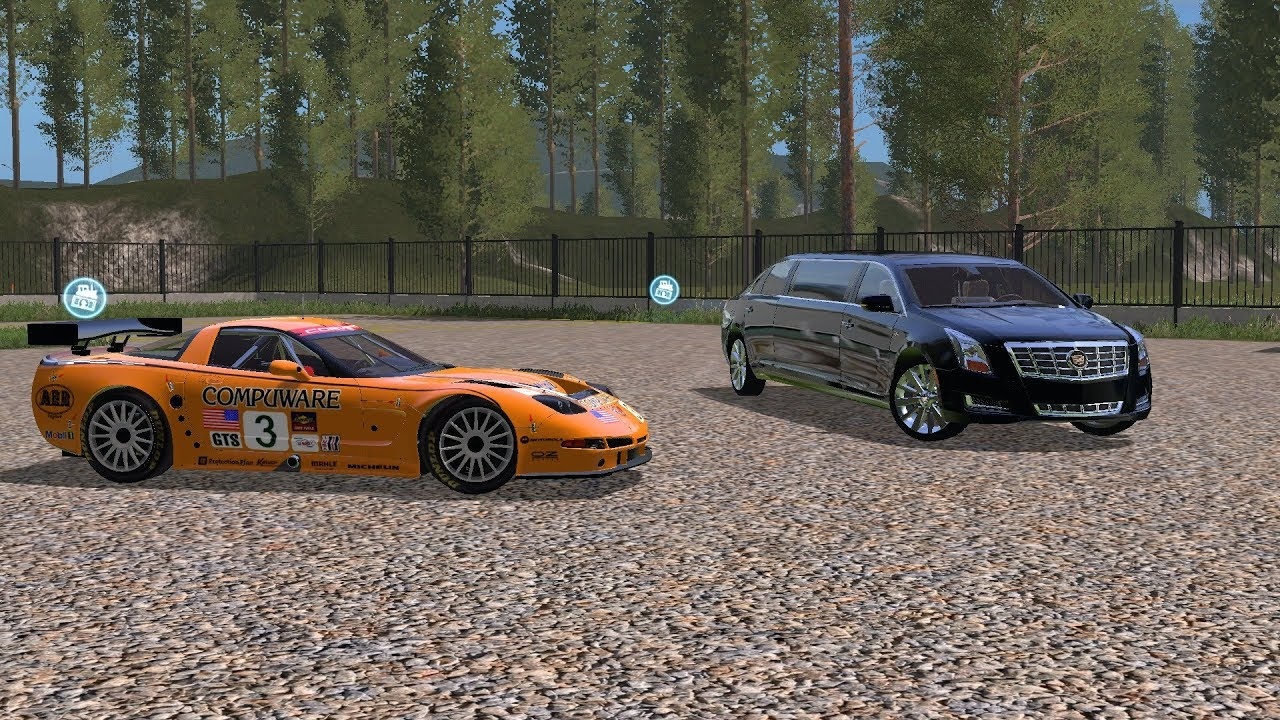 Farming simulator 17 June patreon from lambo mods - Corvette_C5R & Cadillac  Limo by PUNKA Dylan
