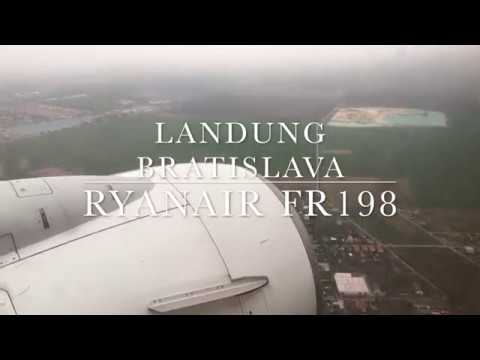 Landung in Bratislava (Landing Airport BTS) RYANAIR