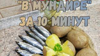 КАРТОШКА В МУНДИРЕ В МИКРОВОЛНОВКЕ Лёгкие рецепты