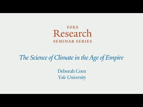 Research Seminar - The Science of Climate in the Age of Empire