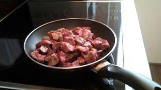 Рецепт жареной свинины  (видео)