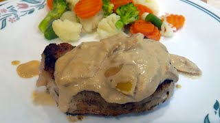 Pork Chops with apples and Creamy Mustard Sauce