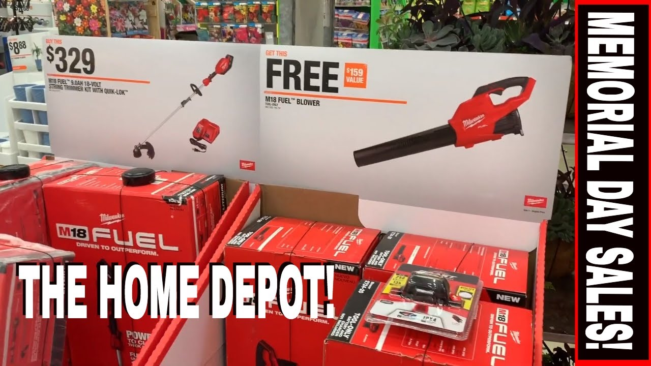 Amazing Tool Deals The Home Depot Memorial Day Sale Tool Review Tuesday Youtube