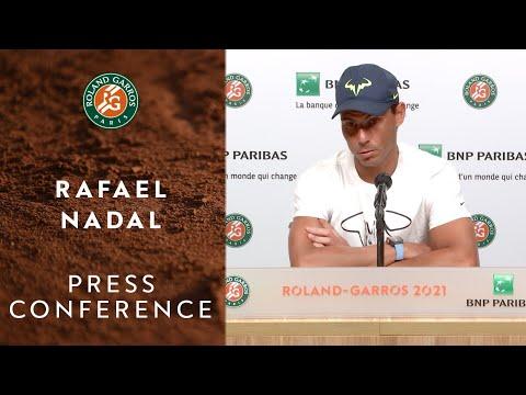 Rafael Nadal Press Conference after Round 4 I Roland-Garros