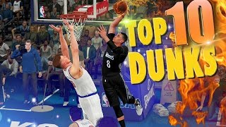 Repeat youtube video NBA 2K16 TOP 10 DUNKS, POSTERS & Alley Oops Of The Week #2 Ft. Zach Lavine