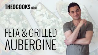 Grilled Aubergine With Feta & Lemon Topping Recipe By Theo Michaels Masterchef