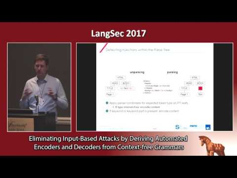 Eliminating Input-Based Attacks by Deriving Encoders and Decoders from CFGs
