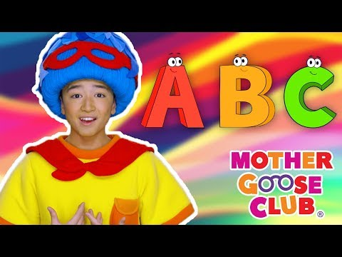A B C D E F G   Bluesy Alphabet Song   Mother Goose Club Nursery Rhymes   ABC Phonics + Kids Songs