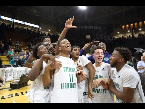 Overland boys basketball celebrates the 5A title