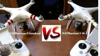 DJI Phantom 3 Standard VS. DJI Phantom 3 4K