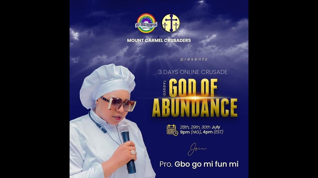 """Download Pro.Gbogo Mi Funmi Ministering At The Online Crusade Tagged """" God of Abundance"""""""
