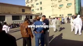 بالفيديو.. إضراب العاملين بشركة لتصنيع السيارات للمطالبة برفع الأجور