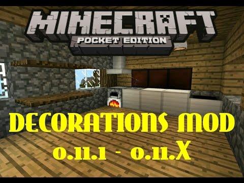 Decorations mod decoraciones mcpe mcpe for Decoration mod mcpe 0 14 0