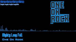 One Ok Rock   Mighty Long Fall Audio Spectrum with Lyric+translate Indonesia