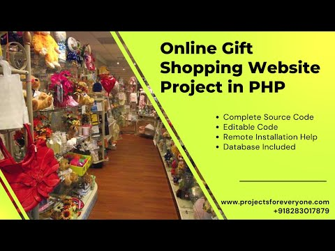 Online Gifts Shopping Website Project in PHP with MySQL