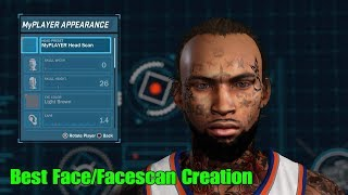 Best Face Creation / Best Face Scan /Face Tattoo · NBA 2K18 · How to look like a MyPark or Stage God
