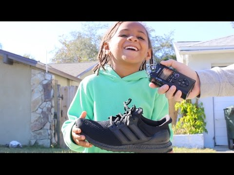 67a7ebb131fc2 Little Kids Review The Adidas Triple Black Ultra Boost! - YouTube