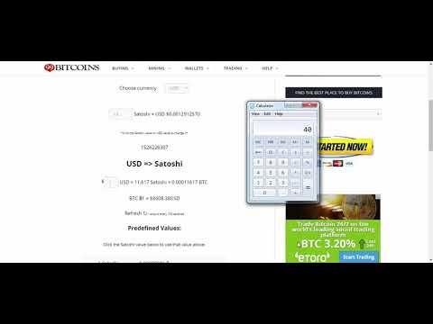 Satoshi To USD Converter