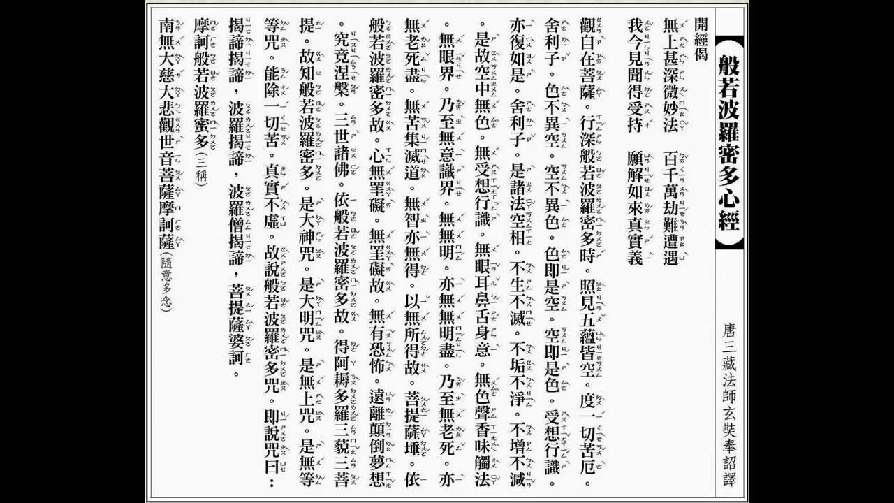 李居明 般若波羅密多心經 廣東話9次 - YouTube