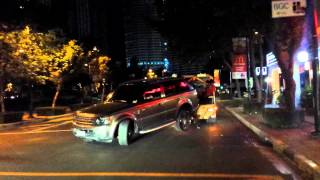 Range Rover being towed and getting its gearbox destroyed in BGC / Taguig