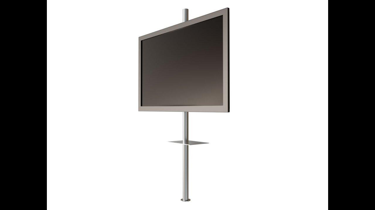 drehbare design tv s ule mit tv halterung cmb 245 cmb youtube. Black Bedroom Furniture Sets. Home Design Ideas