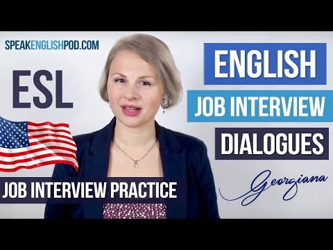 #022 English Job Interview Course - Job Interview Dialogue Examples