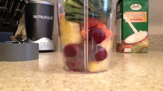 DELICIOUS! Nutribullet Nutri Blast Breakfast Fruit Smoothie #3 Nutri Bullet at Home!