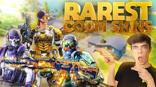 SHOWING ALL the RAREST SKINS in COD Mobile... (0.01% of people have these skins)