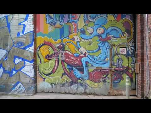Graffiti Art 'Live To Ride Hastings' Gotham Alley