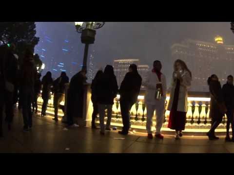 People Watching on Las Vegas Strip 2017 New Years Weekend Celebration