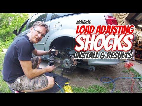 Monroe Load Adjusting Shock Install & Results   2015 Dodge Grand Caravan