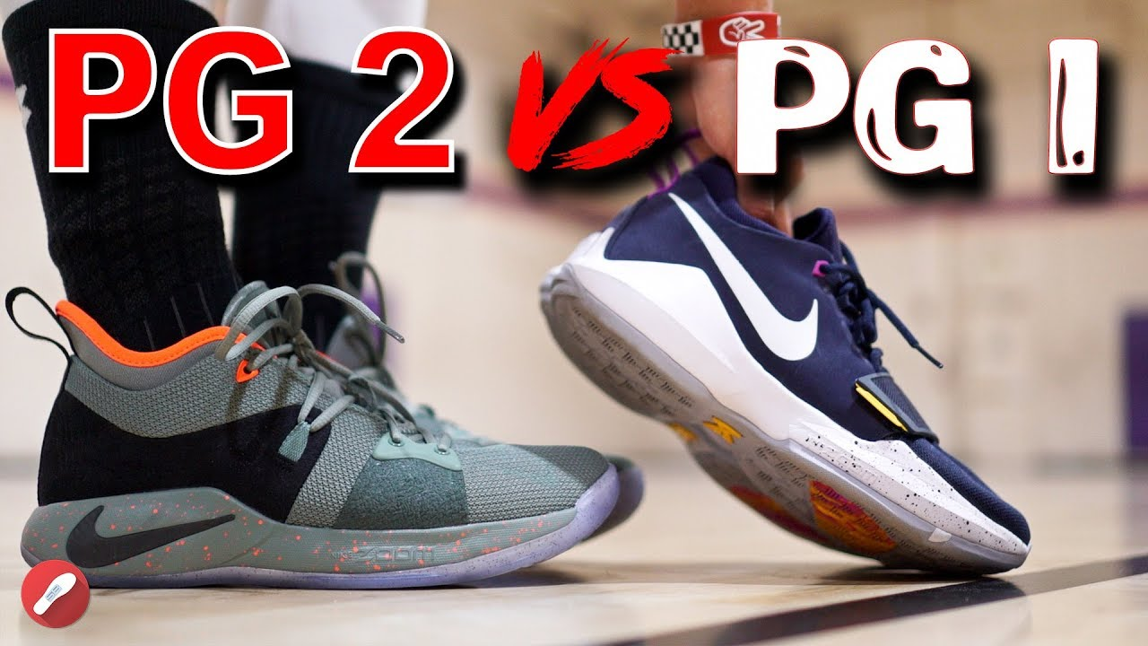 half off 08a85 1c719 Nike PG 2 vs PG 1!