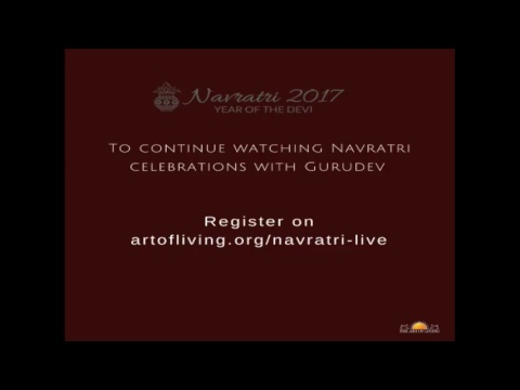 Navratri 2017 Celebrations (Day 1) with Gurudev from Art of Living International Centre, Bangalore