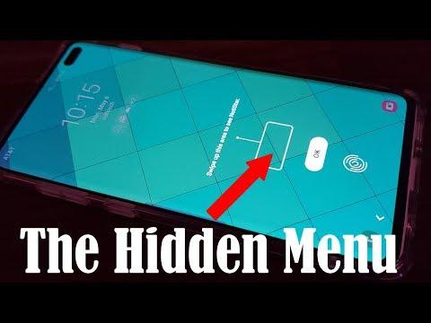 Samsung Galaxy S10 - The Hidden Notifications Menu (above the Fingerprint Sensor)
