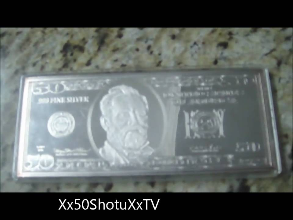 100 silver plated 50 dollar bill youtube
