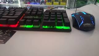 teclado y mouse gamer unitec