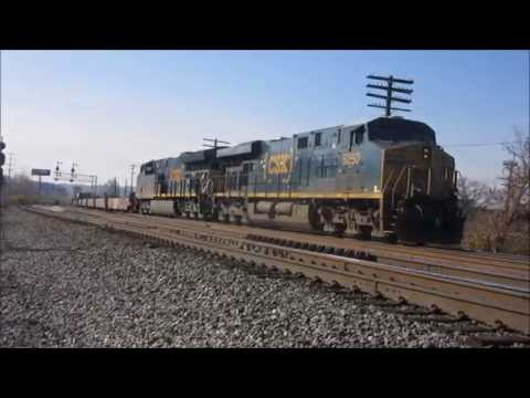 800 Subscribers!! Dash 8's, Standard Cabs, Ex-BN SD40-2, and more in St. Bernard, Ohio!! 11/27/2016.