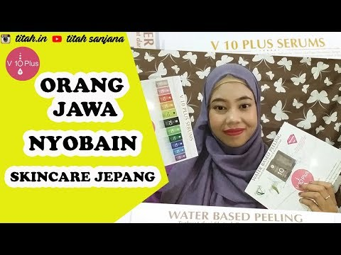 V10 PLUS INDONESIA REVIEW   PEELING & SERUM JERAWAT - YouTube