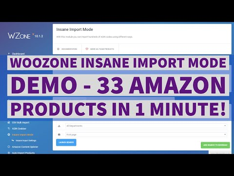 Woozone (WZone) Insane Import Mode Demo - 33 Products in 1 Minute thumbnail