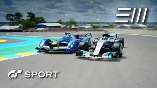 """Gran Turismo Sport -  Is """"Lewis Hamilton's"""" Mercedes-AMG F1 faster than a Red Bull X2014?"""