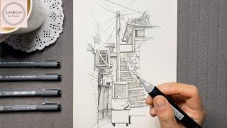 펜으로 그리는 여행 | 서울 현저동 골목 풍경 드로잉 …