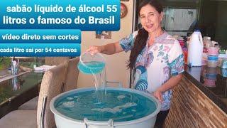 SABÃO LÍQUIDO DE ÁLCOOL – RENDE 55 LITROS
